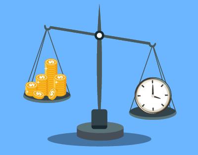 時間とお金のどちらを重視するか