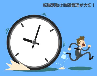 転職活動は時間管理が大切