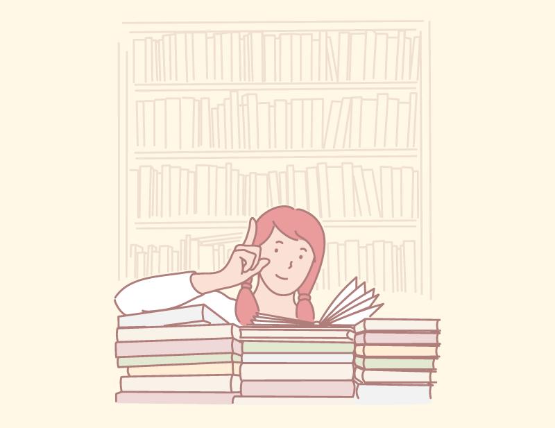 読書が趣味の女性