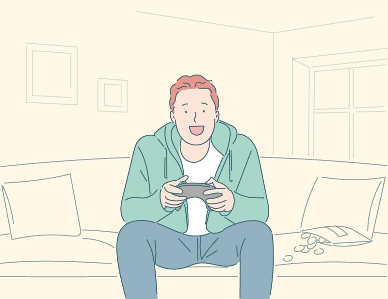 ゲームが趣味の男性
