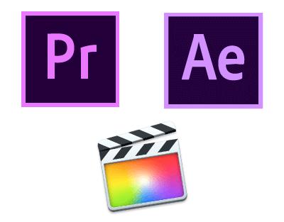 Adobeプレミア_アフターエフェクト_FinalCutPro