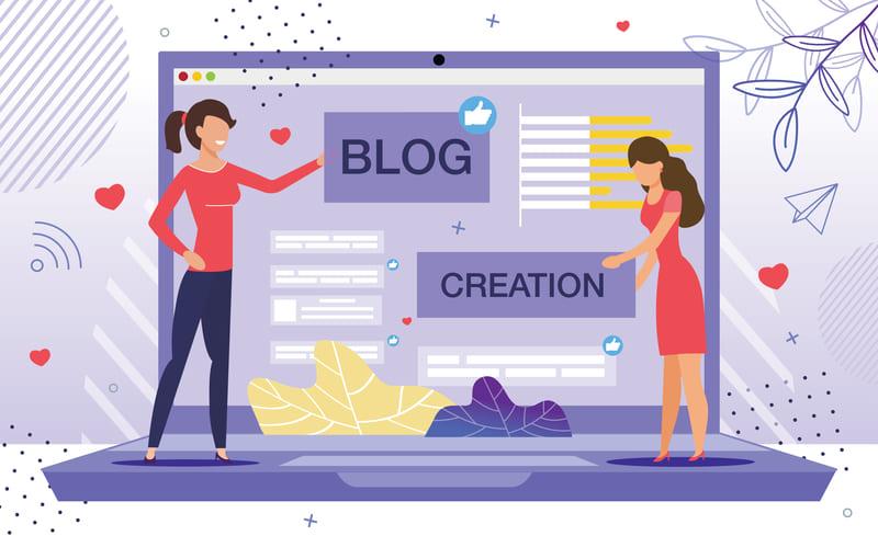 ブログサービスを選ぶ女性