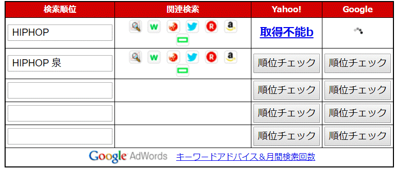 "SEO高屋の検索順位チェックツール"""""