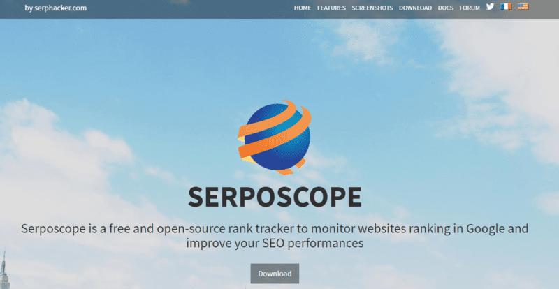 serposcope 公式キャプチャ