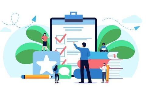 記事作成サービスのチェック体制イメージ